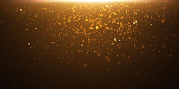 Glitzernde partikel aus feenstaub