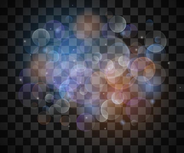 Glitzernde sterne auf vintage lichter bokeh