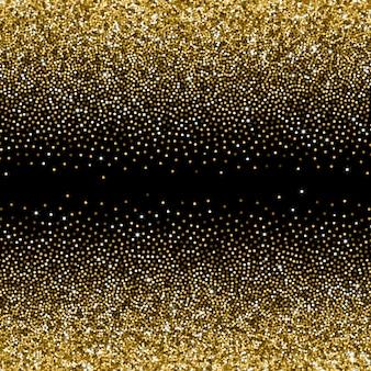Glitzernder goldener farbverlauf mit vereinzelten glitzern