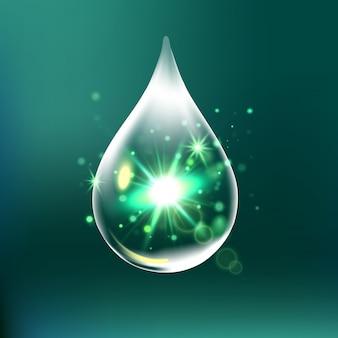 Glitzertropfen, wassertropfen mit isolierten effekten
