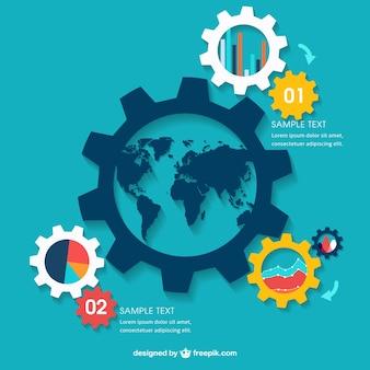 Global business infografik