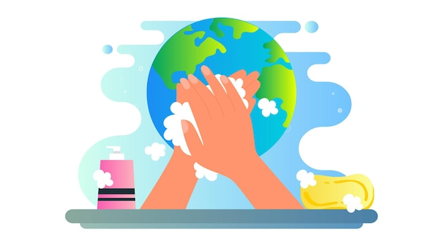Global handwashing day illustration hintergrund