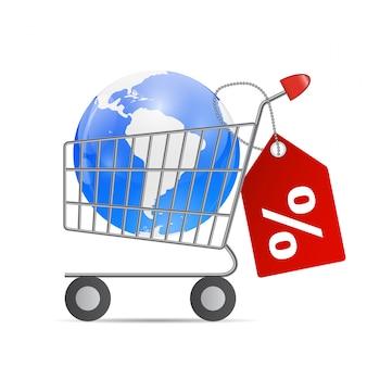 Global shopping-konzept
