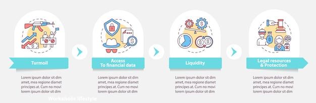 Globale aktien geben infografik-vorlage aus. liquidität, gestaltungselemente für die präsentation von rechtlichen ressourcen.