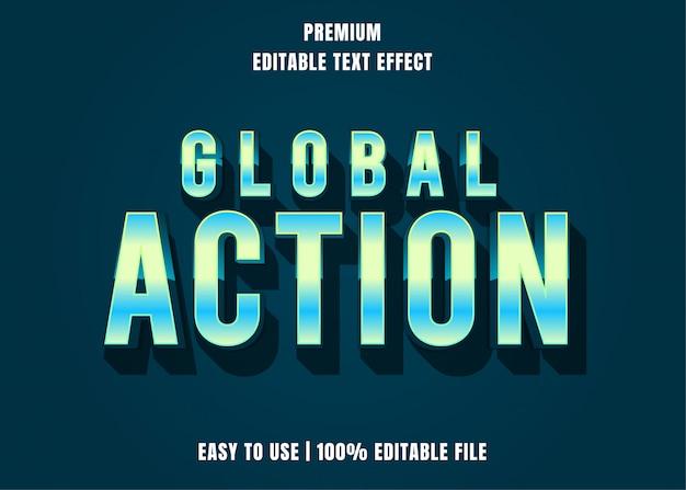 Globale aktion, bearbeitbarer texteffekt-schriftstil