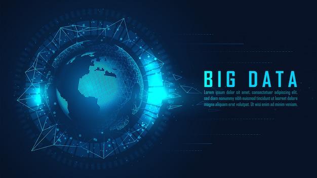 Globale big-data-visualisierung