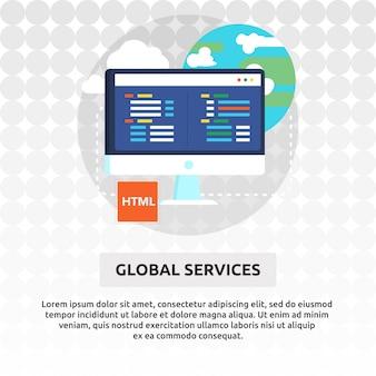 Globale dienstleistungen