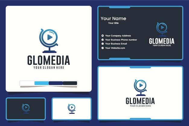 Globale medien, erde, logo-design-inspiration