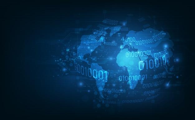 Globale netzwerk-blockchain-verbindung.
