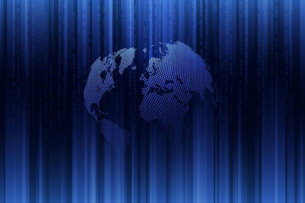 Globale netzwerkverbindung. geschäftskonzept und internettechnologie. technologischer hintergrund.