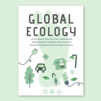 Globale ökologie-flyer-vorlage