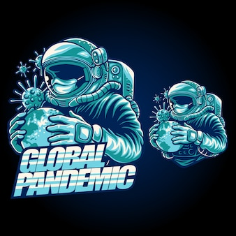 Globale pandemie illustration