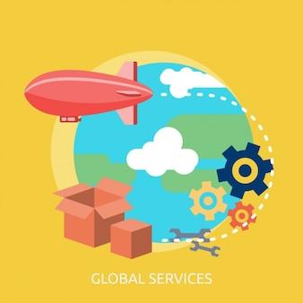 Globale services hintergrund