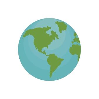 Globaler erdplaneten-geografieentwurf