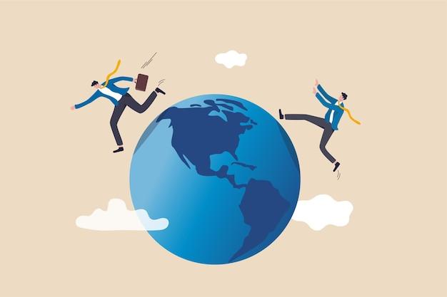 Globaler geschäftskonkurrent, innovation, die die agile welt verändert