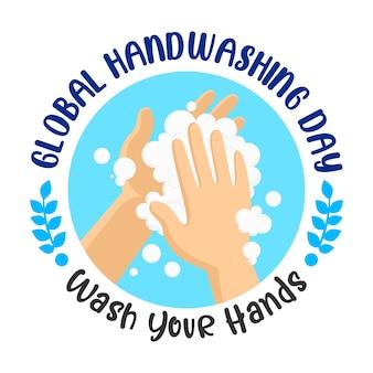 Globaler handwaschtag. wasche deine hand