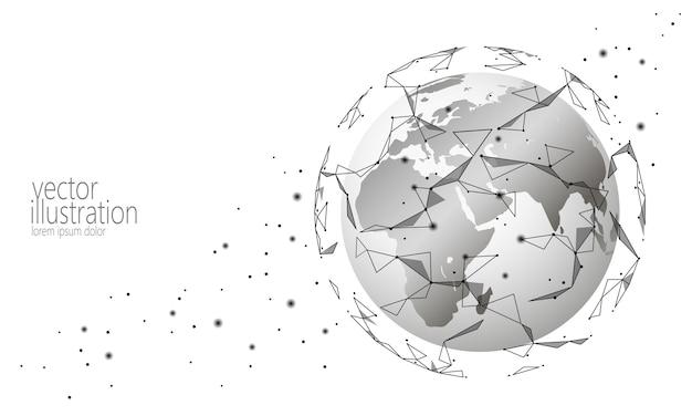 Globaler internationaler verbindungsinformationsaustausch blockchain kryptowährungshintergrund