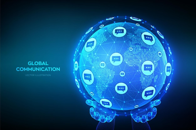 Globaler kommunikationshintergrund