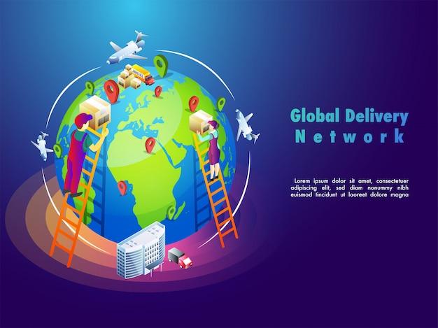 Globaler online-lieferprozess