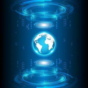 Globales abstraktes technologie-hintergrundkommunikationskonzept