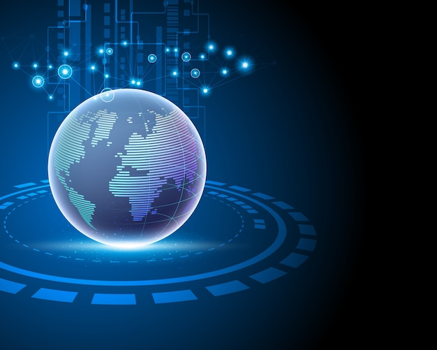 Globales dateninternet-netzwerkverbindungskonzept.