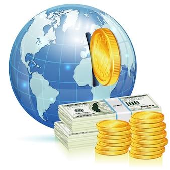 Globales finanzielles konzept