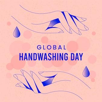 Globales handwasch-tageskonzept