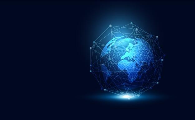 Globales netzwerk des abstrakten technologiekonzeptes