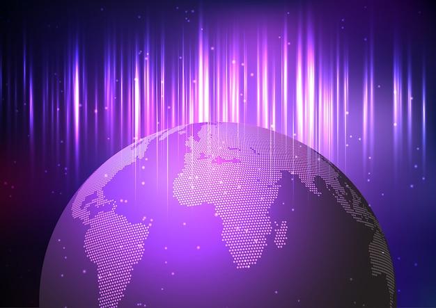 Globus auf abstraktem hintergrund