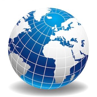 Globus der welt europa und afrika