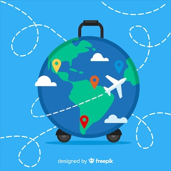 Globus koffer hintergrund