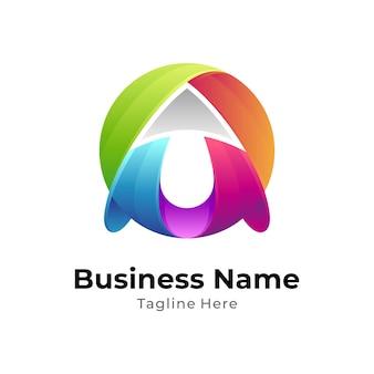 Globus mit pfeil-logo-vorlage