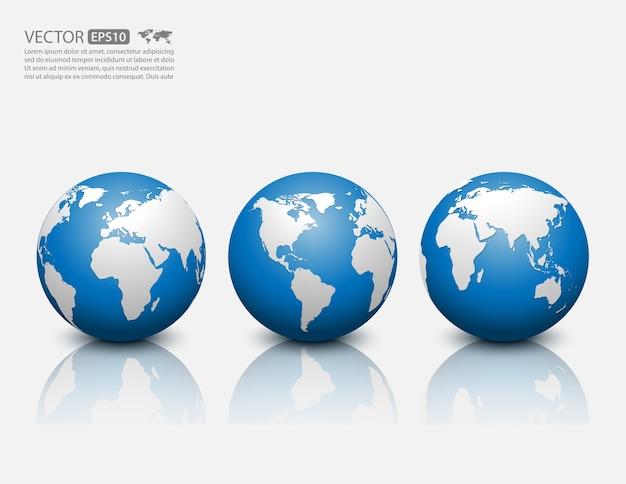 Globus-symbol. vektor
