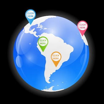 Globus-vektor-illustration