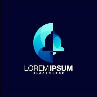 Glocke gradient logo design-vorlage