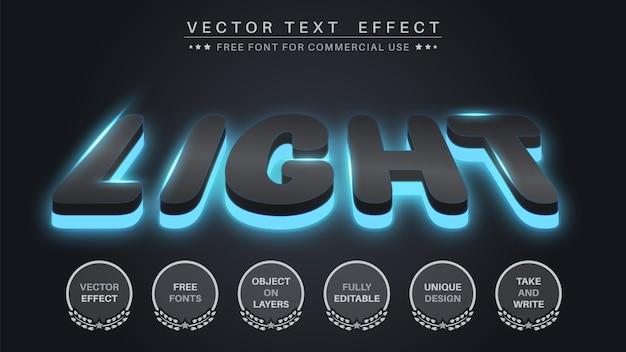 Glow dark bearbeitbarer texteffekt, schriftstil