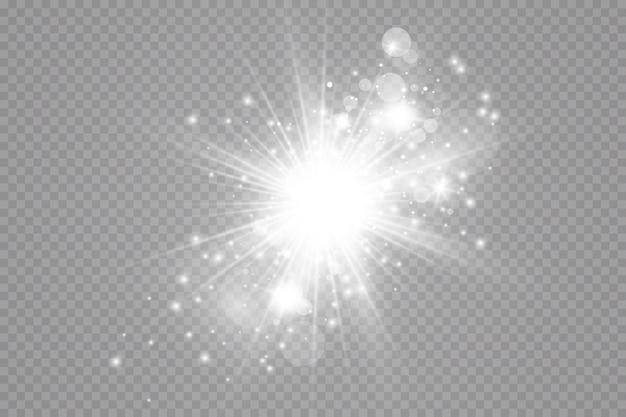 Glow-effekt. blitzstaub. komet