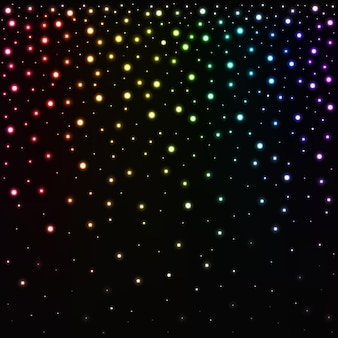 Glow gradient multicolor glitter konfetti gefallener kreis hintergrund feier heller glitzer