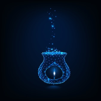 Glow low poly aroma lampe mit kerze