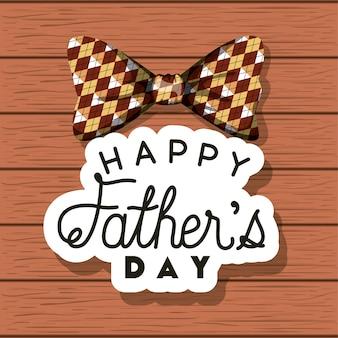 Glückliche Vatertagskarte mit elegantem bowtie