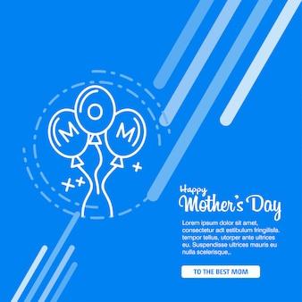 Glücklicher Kalligraphie-Hintergrund der Mutter Tages
