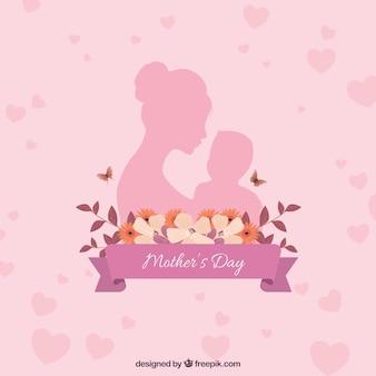 Glücklicher Muttertaghintergrund mit Familie