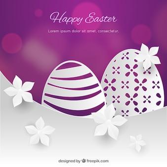 Glücklicher Ostern-Tageshintergrund in der Papierart