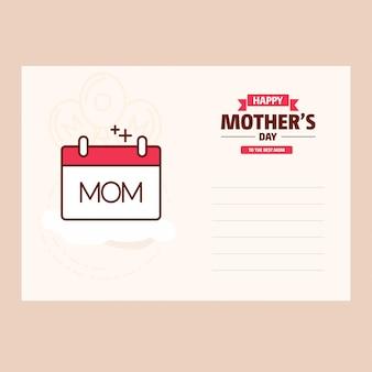 Glücklicher süßer Weinlesehintergrund der Mutter Tages