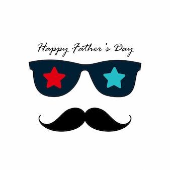 Glücklicher Vatertag mit hellem Hintergrund