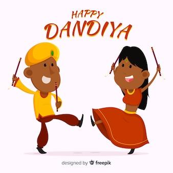 Glückliches Dandiya