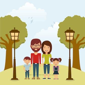 Glückliches Familienmitgliedkonzept