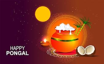 Glückliches religiöses Pongal-Festival in Südindien.