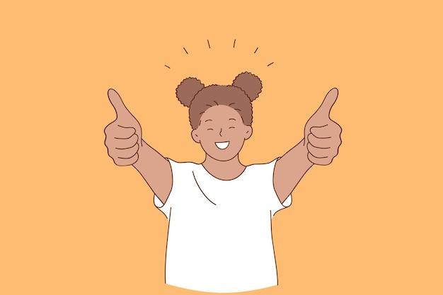 Glück, glückliche kindheit, positives emotionskonzept