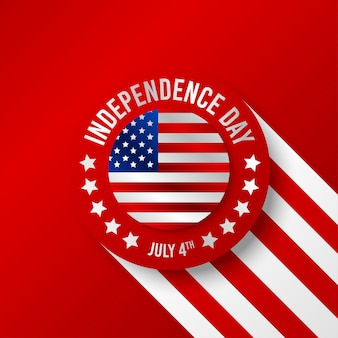 Glückliche amerika unabhängigkeitstag hintergrundillustration